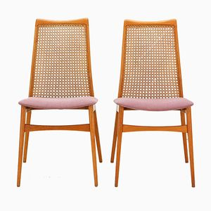 Cherrywood Dining Chairs from Benze, 1950s, Set of 2