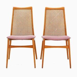 Esszimmerstühle aus Kirschholz von Benze, 1950er, 2er Set