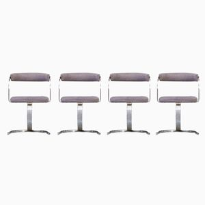 Italian Cantilever Chairs, 1980s, Set of 4