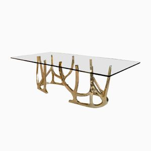 Contemporary Sculptural Center or Dining Bronze Table from Edizione Flair, 2018