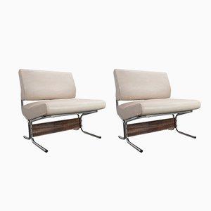 Weißer Skai Sessel von Pierre Guariche für Meurop, 1966, 2er Set