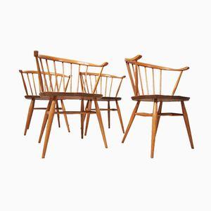 Vintage Cow Horn Stühle von Lucian Ercolani für Ercol, 4er Set