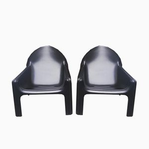 Italian 4794 Lounge Chairs by Gae Aulenti for Kartell, 1974, Set of 2