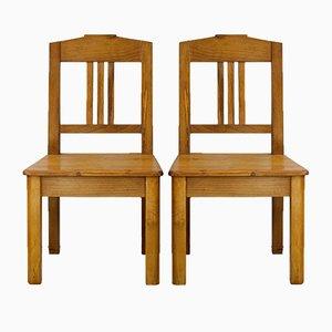 Art Nouveau Children's Chairs, 1910s, Set of 2