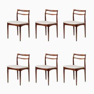 Palisander Esszimmerstühle von Johannes Andersen für Christian Linnerberg, 1960er, 6er Set