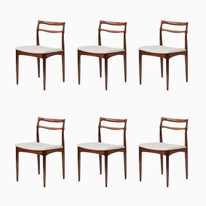 Rosewood Dining Chairs by Johannes Andersen for Christian Linnerberg, 1960s, Set of 6