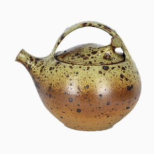 French Stoneware Teapot by Charles Gaudry, 1960s