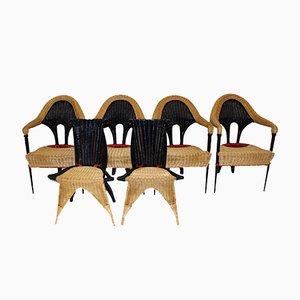 Sedie in vimini di Borek Sipek per Driade, 1988, set di 6