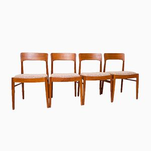Danish Teak Chairs by KS Møbler, 1960s, Set of 4