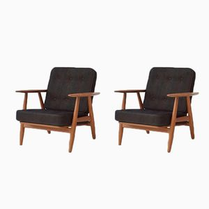 GE-240 Cigar Chairs by Hans Wegner for Getama, 1960s, Set of 2