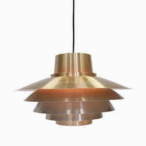 Brassed Verona Pendant Light by Svend Middelboe for Nordisk Solar, 1970s