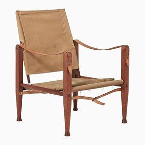 Mid-Century Canvas Safari Chair by Kaare Klint for Rud Rasmussen