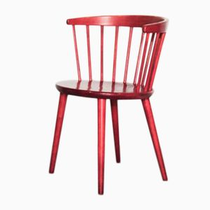 Red Spindle Back Chair by Lena Larsson for Nesto, 1960s