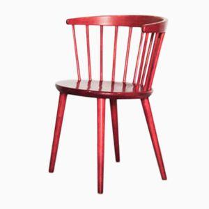 Silla con respaldo rojo de Lena Larsson para Nesto, años 60