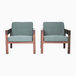 Modell SZ25/SZ80 Wenge Sessel von Hein Stolle für 't Spectrum, 1960er, 2er Set