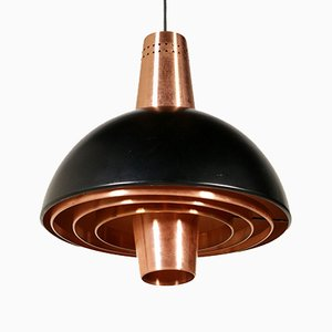 Lacquered Aluminium & Copper Ceiling Lamp from Stilnovo, 1960s