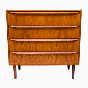 Danish Teak Dresser with Drawers, 1960s