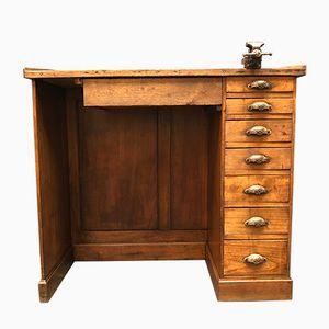 Französischer vintage Eichenholz Schmuck Werktisch