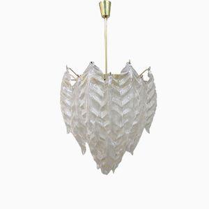 Lámpara de techo italiana vintage de cristal de Murano