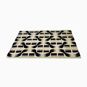 Tappeto in lana con motivo geometrico, Italia, anni '70