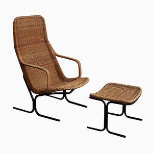 Vintage 514 Lounge Chair & Ottoman by Dirk van Sliedregt for Rohé Noordwolde