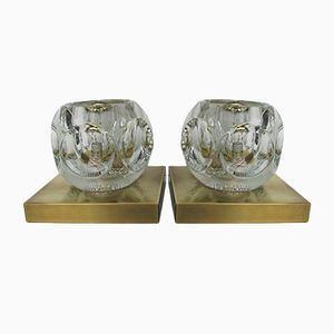 Vintage Wall or Ceiling Lamps from Peill & Putzler, 1970s, Set of 2