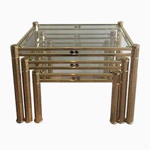 Brass Nesting Tables, 1970s