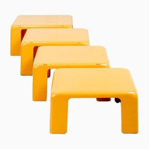 Tables d'Appoint Quattro Gatti par Mario Bellini pour C&B Italia, 1960s, Set de 4