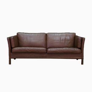 Dänisches vintage Sofa aus Leder