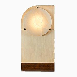 Applique Polifemo in ottone, alabastro e legno di Silvio Mondino Studio