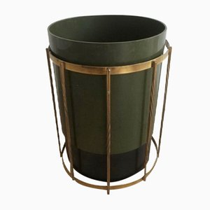Brass & Plastic Basket, 1970s