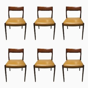 Number 77 Rosewood Dining Chairs by Niels O. Møller for J.L. Møllers, 1960s, Set of 6