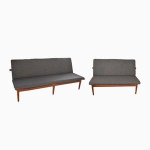 Modell 137 2-Sitzer Sofa & 3-Sitzer Set von Finn Juhl für France & Søn, 1953