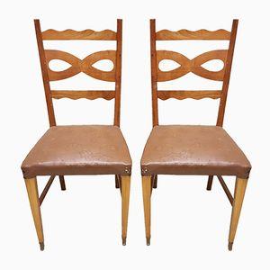 Italienische Stühle von Paolo Buffa, 1950er, 2er Set