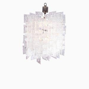 Lámpara de araña grande de vidrio de Carlo Nason para Mazzega