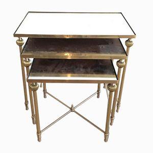 Brass Nesting Tables, 1940s