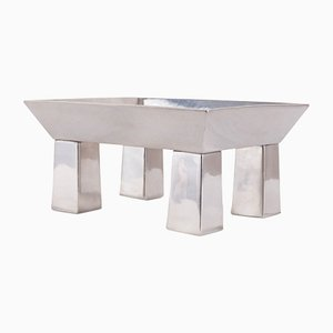 Basilio Pewter Center Piece by Ettore Sottsass for Serafino Zani