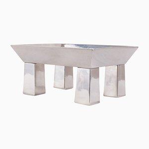 Centre de Table Brasilio en Étain par Ettore Sottsass pour Serafino Zani
