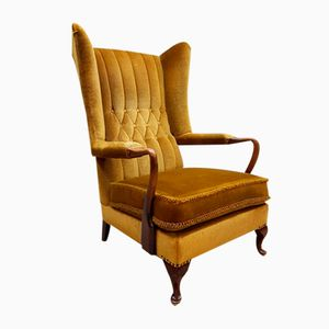 Vintage French Wingback Lounge Chair, 1950s