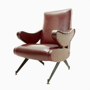 Reclining Lounge Chair by Nello Pini for Mobilificio Oscar Gigante, 1960s