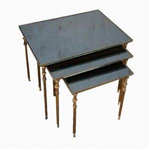 Vintage Brass Nesting Tables, 1950s