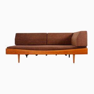Sofá cama vintage de nogal, años 60