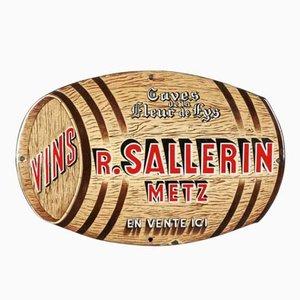 Insegna smaltata di Vins Sallerin Metz per Emaillerie Alsacienne Strasbourg