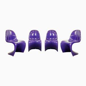 Chairs by Verner Panton for Fehlbaum & Herman Miller, 1974, Set of 4