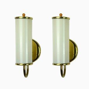 Art Deco Wandlampen, 2er Set