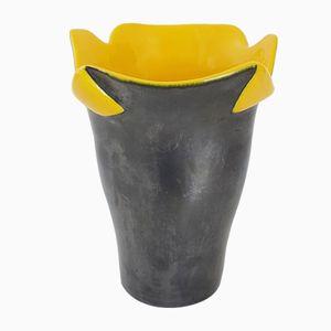 Französische Keramik Vase von B. Letalle für Saint-Clément, 1950er