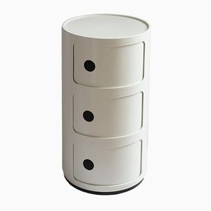 Mid-Century Cylindrical Stand by Anna Castelli Ferrieri for Kartell, 1968