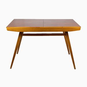 Walnut Veneered Folding Dining Table by František Jirák for Tatra, 1960s