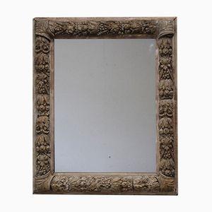 Espejo de pared antiguo de vidrio y madera