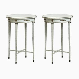 Antique Bronze Mounted Side Tables, Set of 2